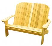 Click to enlarge image  - Adirondack Loveseat - Designed for love birds with room for two to curl up in!